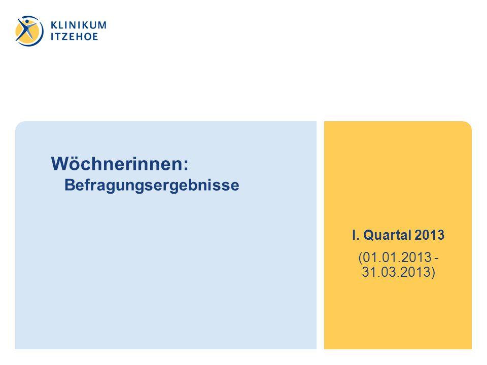 Wöchnerinnen: Befragungsergebnisse I. Quartal 2013 (01.01.2013 - 31.03.2013)