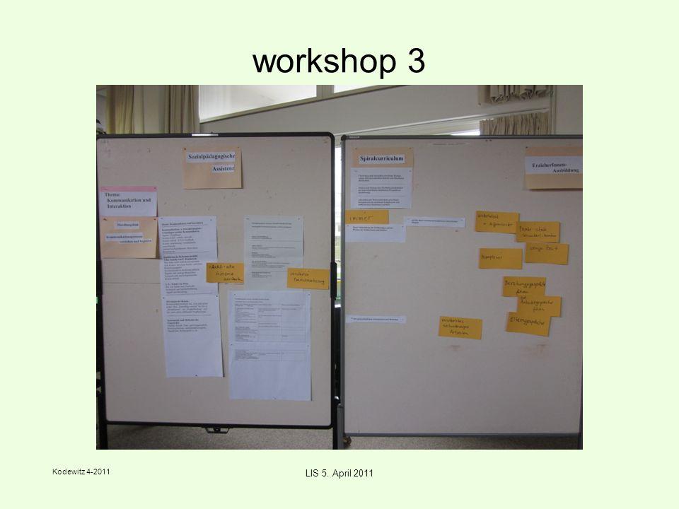 Kodewitz 4-2011 LIS 5. April 2011 workshop 1 - Präsentation