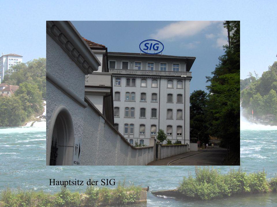 Erinnerung an die Fabriken am Rheinfall.