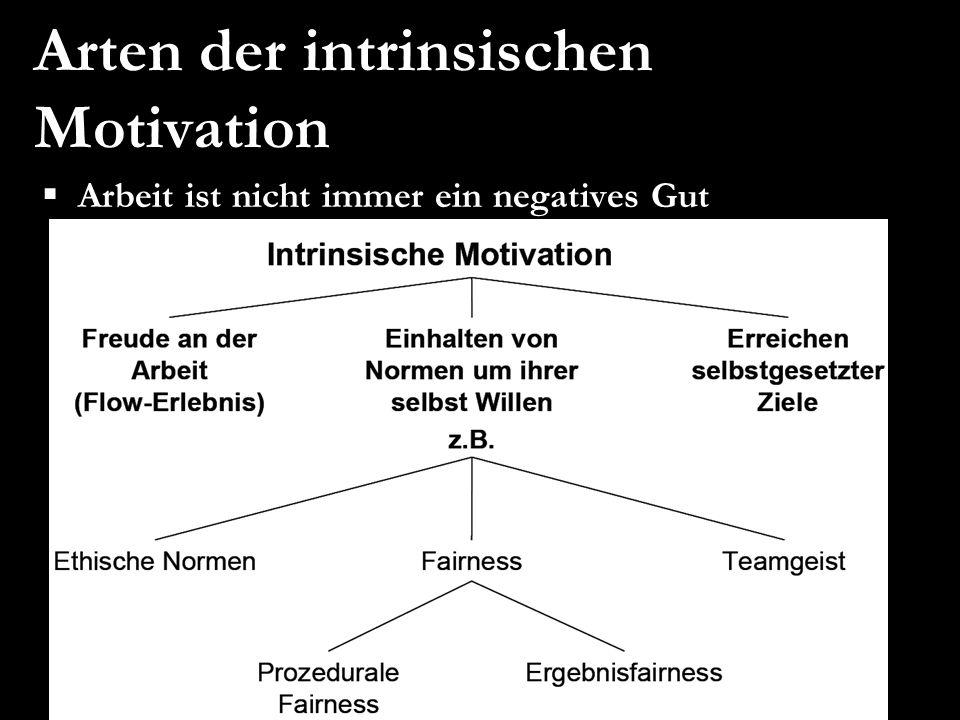 Arten der intrinsischen Motivation Arbeit ist nicht immer ein negatives Gut
