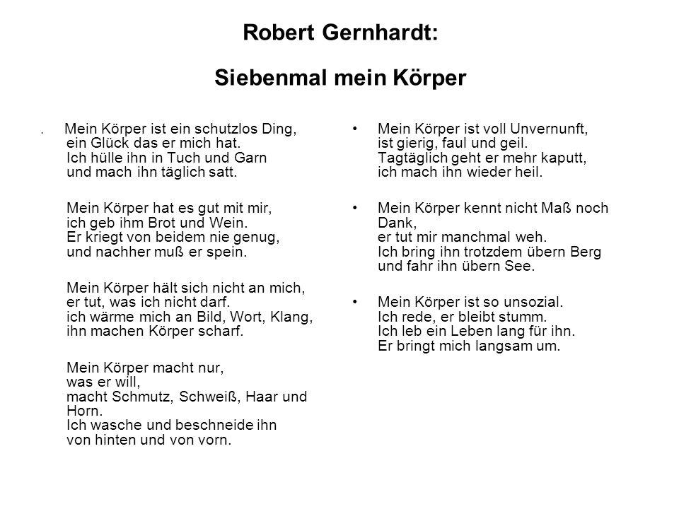 Robert Gernhardt: Siebenmal mein Körper.