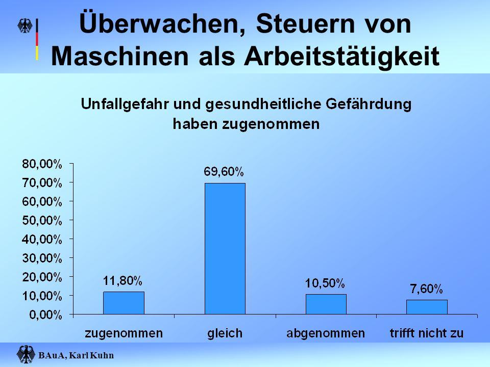 BAuA, Karl Kuhn Überwachen, Steuern von Maschinen als Arbeitstätigkeit