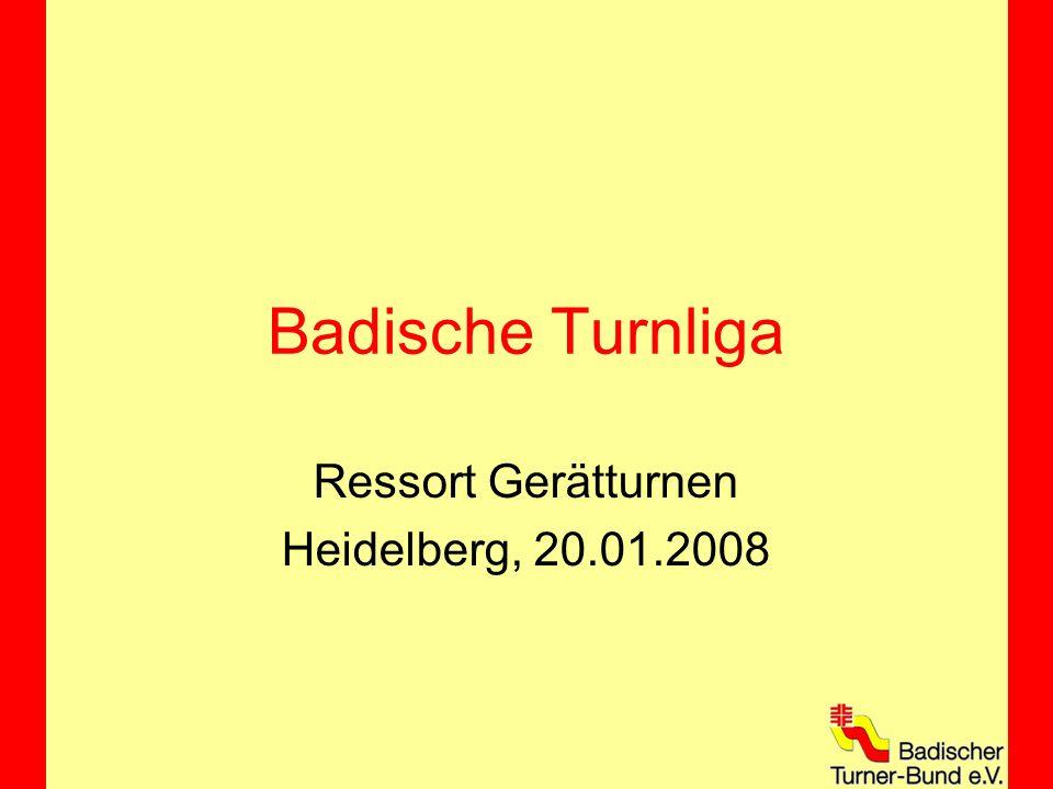 Badische Turnliga Ressort Gerätturnen Heidelberg, 20.01.2008