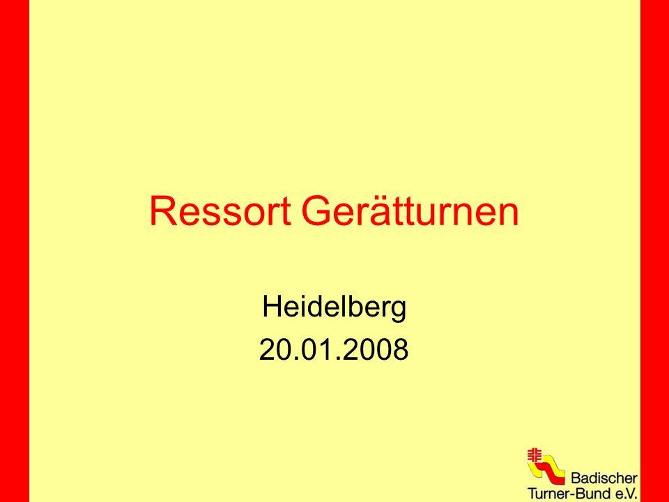 Programm 10:00 – 11:15 Uhr Vorstellung Ressort Gerätturnen Jahresrückblick Erfolge auf Bundesebene Wettkampfsystem Badische Turnliga Vorschau 2008 13:30 – 17:00 Uhr Getrennte Tagungen
