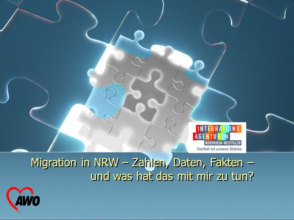 Migration in NRW – Zahlen, Daten, Fakten – und was hat das mit mir zu tun? Migration in NRW – Zahlen, Daten, Fakten – und was hat das mit mir zu tun?