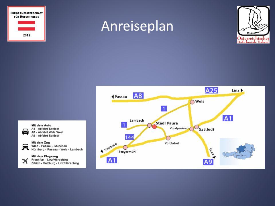 Das Hotel liegt in Wels und ist ca. 15 Min. von der Wettkampfstätte entfernt.