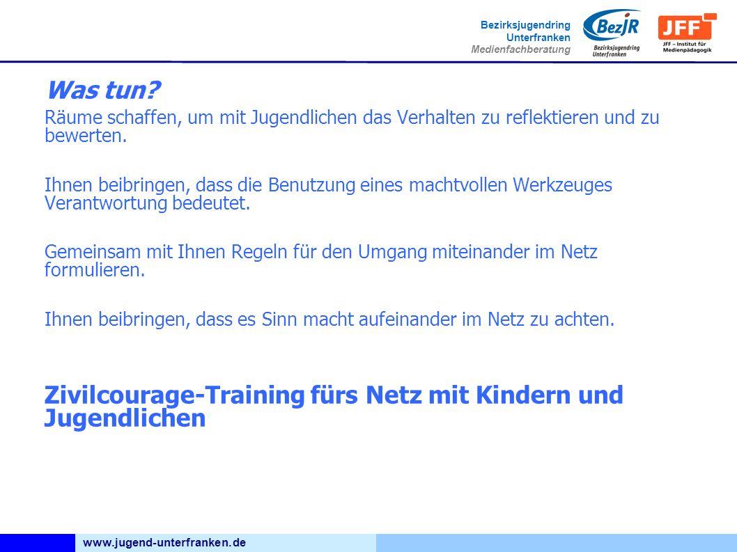 www.jugend-unterfranken.de Bezirksjugendring Unterfranken Medienfachberatung Was tun.