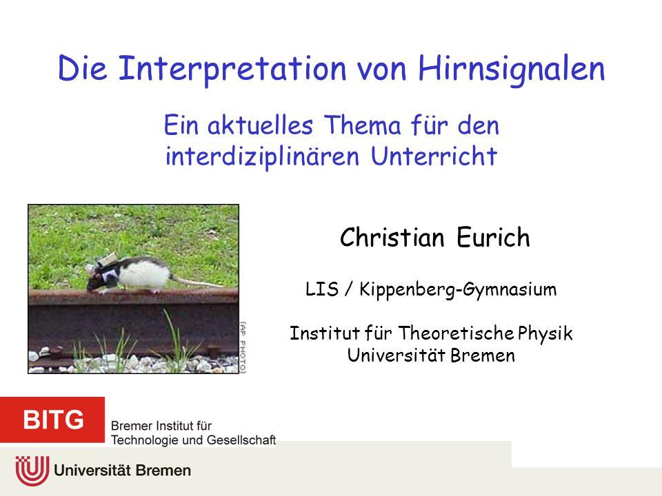 Beispiel: Armbewegungen Wessberg et al., Nature 408 (2000) 361