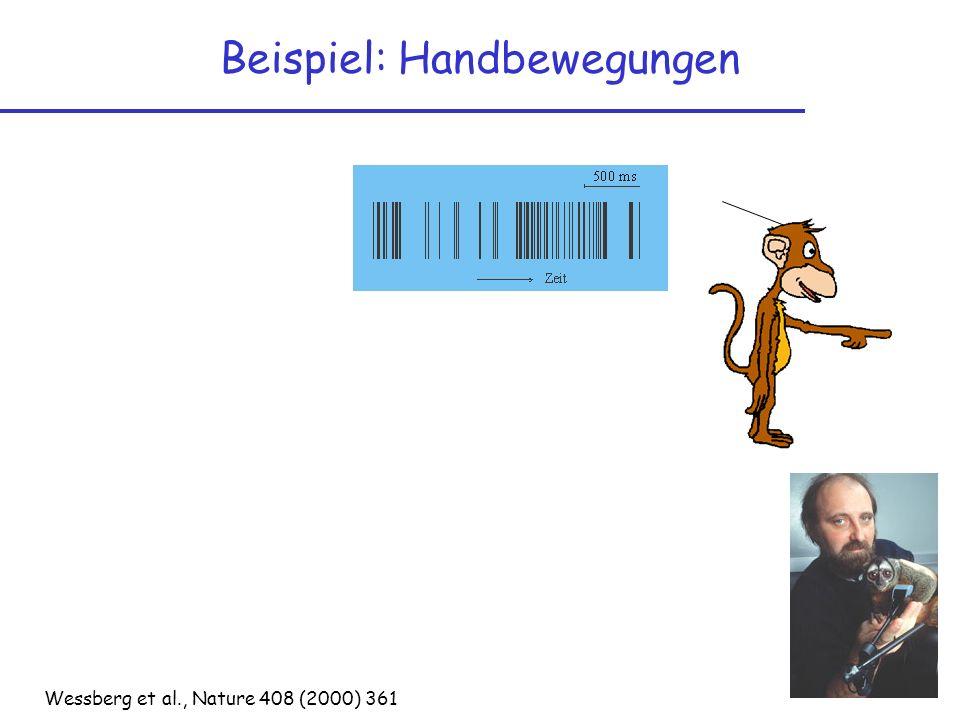 Beispiel: Handbewegungen Wessberg et al., Nature 408 (2000) 361