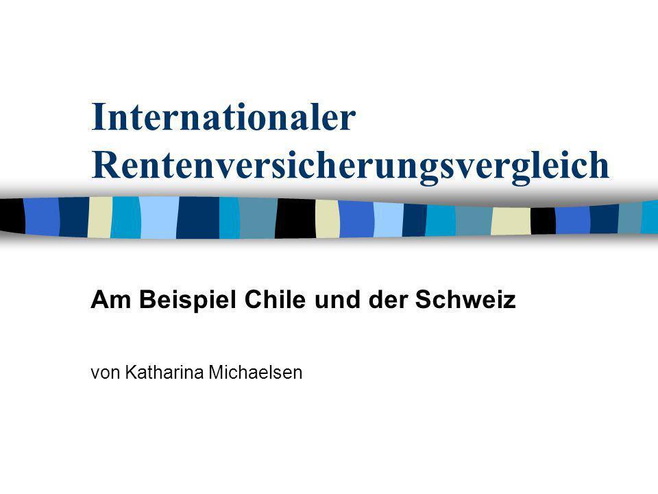 Internationaler Rentenversicherungsvergleich Am Beispiel Chile und der Schweiz von Katharina Michaelsen