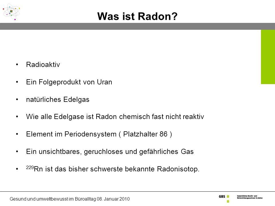 Was ist Radon.