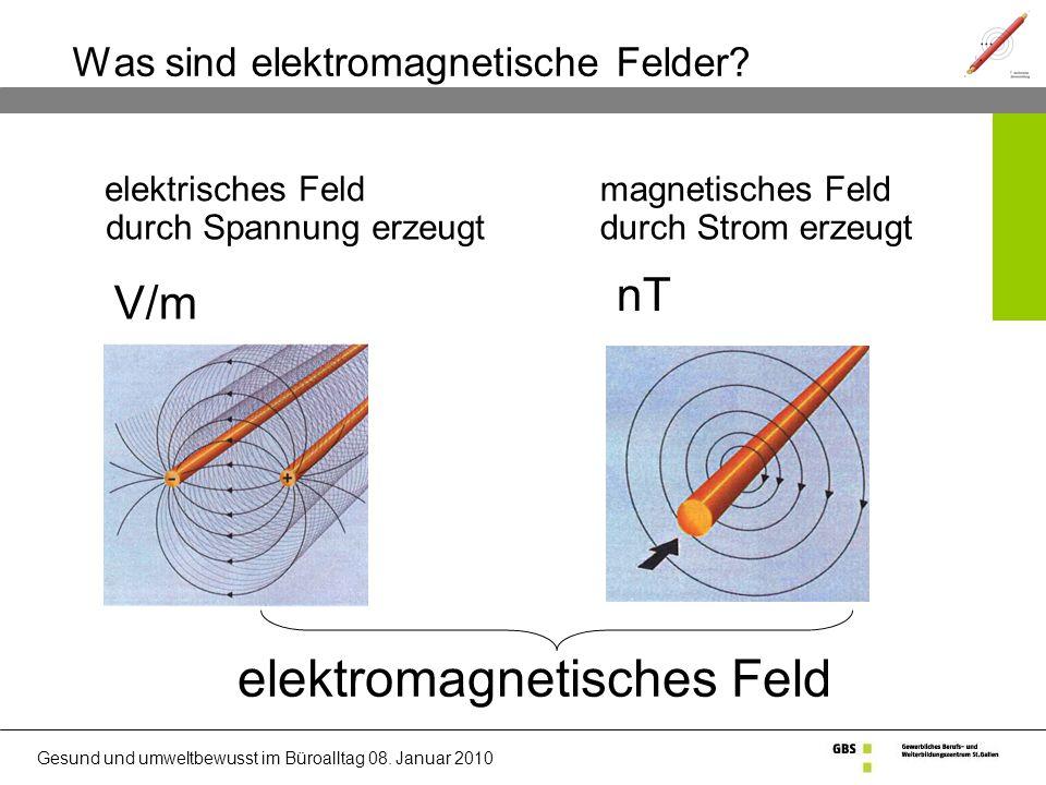 Gesund und umweltbewusst im Büroalltag 08.Januar 2010 Was sind elektromagnetische Felder.