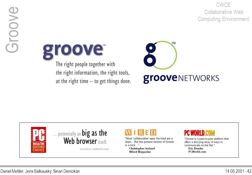 Daniel Mettler, Jens Balkausky, Sinan Demokan14.06.2001 - 42 CWCE Collaborative Web Computing Environment Groove
