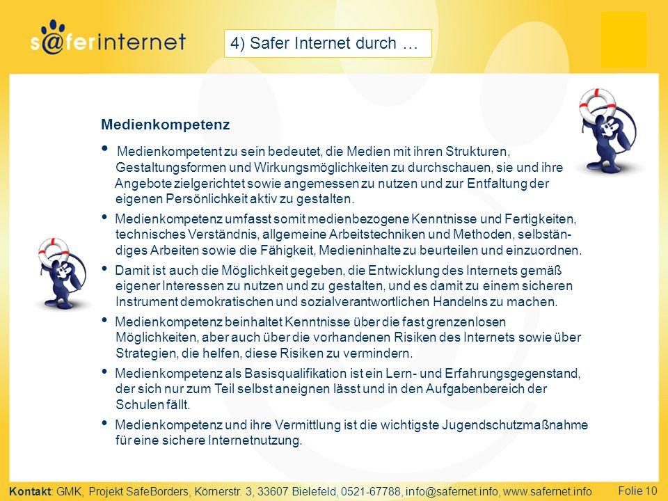 Kontakt: GMK, Projekt SafeBorders, Körnerstr.