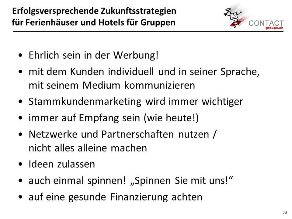 Erfolgsversprechende Zukunftsstrategien für Ferienhäuser und Hotels für Gruppen 37 Werner Kieser, CEO Kieser Training: Jeder Schweizer kennt das Matterhorn - obwohl es weder der höchste noch der grösste Berg der Schweiz ist.