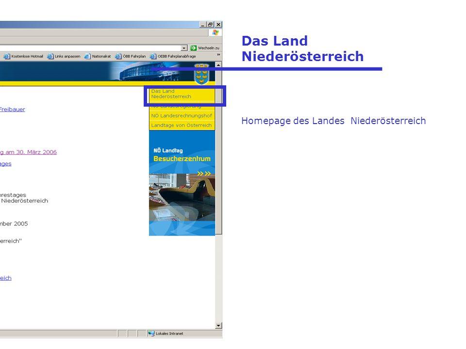 Das Land Niederösterreich Homepage des Landes Niederösterreich