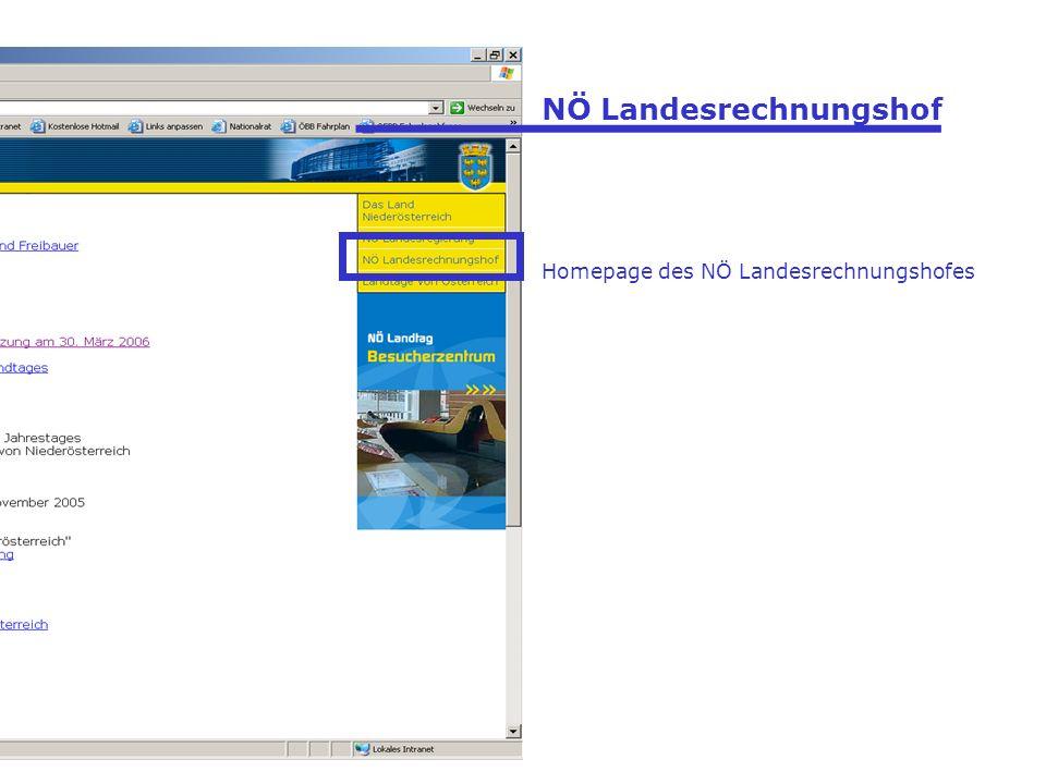 NÖ Landesrechnungshof Homepage des NÖ Landesrechnungshofes