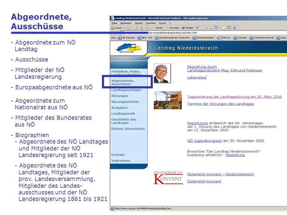 Landtagsvorlagen - XVI.Gesetzgebungsperiode (2003 - 2008) - XV.