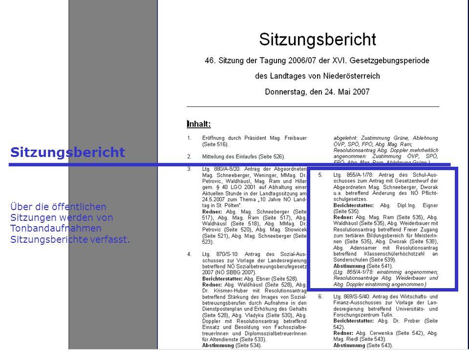 - Präsidenten - Landtagsdirektor - Landtagsdirektion - Landtagsklubs Einspruchsfristen - 50.000 wahlberechtigte Landesbürger oder 80 Gemeinden - Bundesregierung