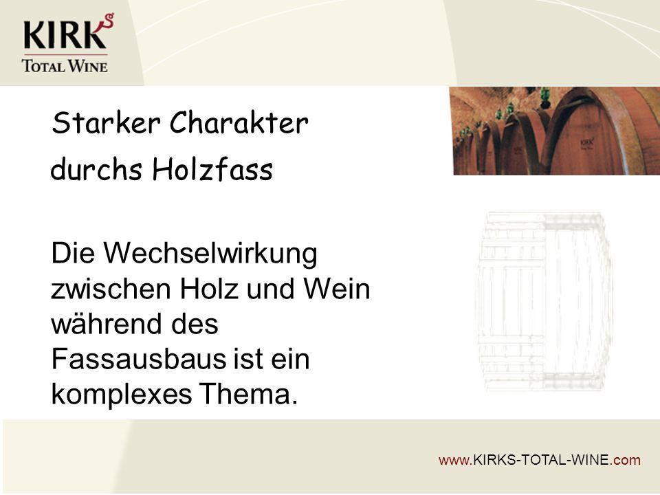 Starker Charakter Die Wechselwirkung zwischen Holz und Wein während des Fassausbaus ist ein komplexes Thema.