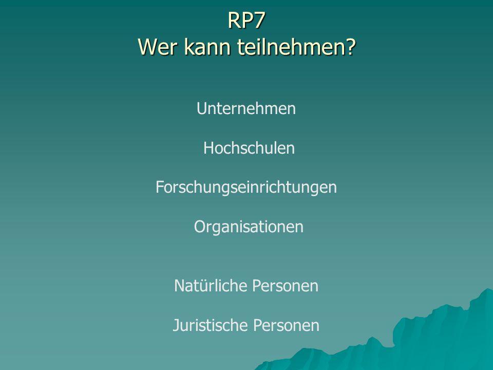 RP7 Wer kann teilnehmen.