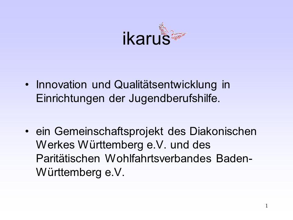 1 ikarus Innovation und Qualitätsentwicklung in Einrichtungen der Jugendberufshilfe.