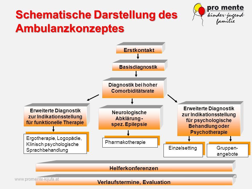 Schematische Darstellung des Ambulanzkonzeptes Basisdiagnostik Diagnostik bei hoher Comorbiditätsrate Erweiterte Diagnostik zur Indikationsstellung fü