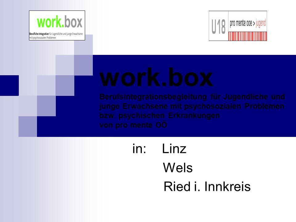 work.box Berufsintegrationsbegleitung für Jugendliche und junge Erwachsene mit psychosozialen Problemen bzw.