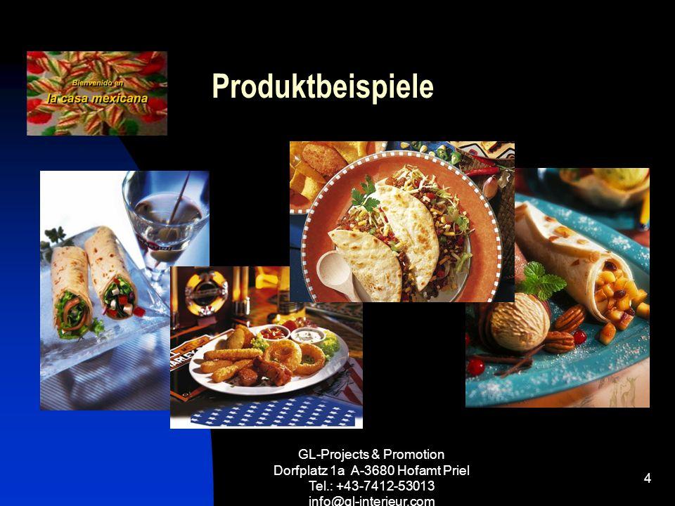 GL-Projects & Promotion Dorfplatz 1a A-3680 Hofamt Priel Tel.: +43-7412-53013 info@gl-interieur.com 4 Produktbeispiele