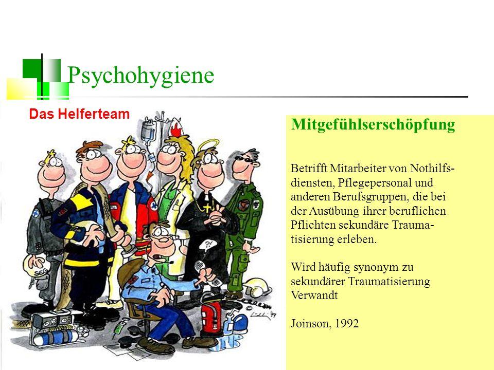 Dipl.-Psych. Anke Nottelmann 63 Mitgefühlserschöpfung Betrifft Mitarbeiter von Nothilfs- diensten, Pflegepersonal und anderen Berufsgruppen, die bei d
