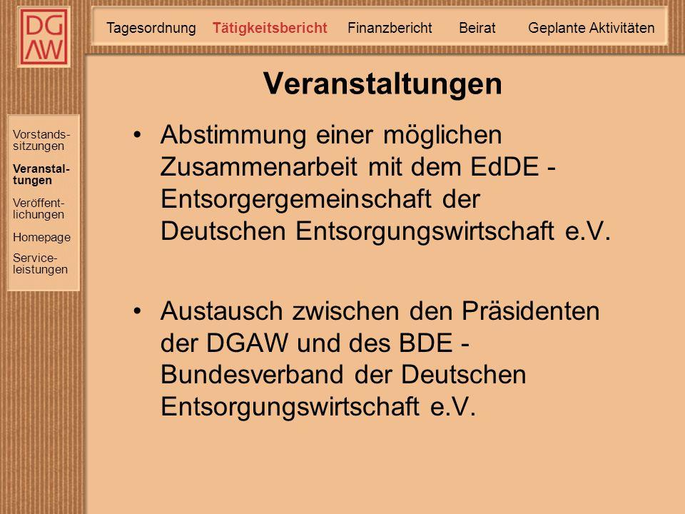 Abstimmung einer möglichen Zusammenarbeit mit dem EdDE - Entsorgergemeinschaft der Deutschen Entsorgungswirtschaft e.V.