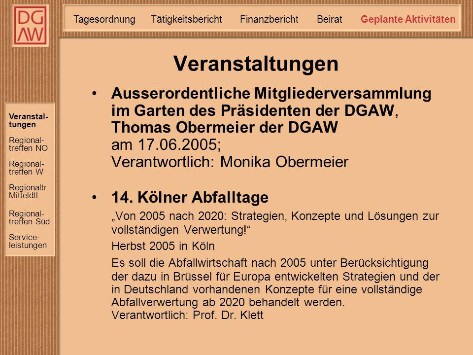 Ausserordentliche Mitgliederversammlung im Garten des Präsidenten der DGAW, Thomas Obermeier der DGAW am 17.06.2005; Verantwortlich: Monika Obermeier 14.