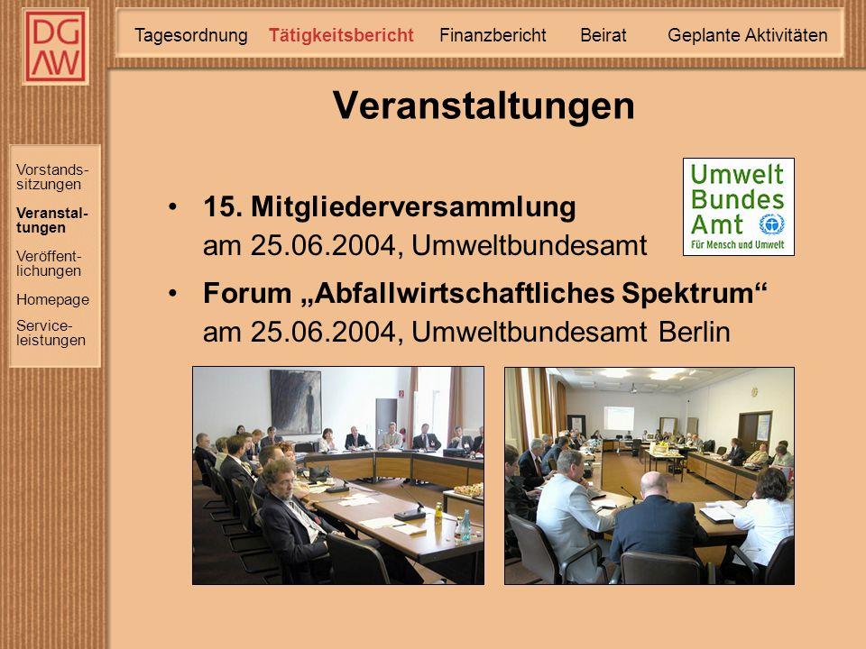 DGAW e.V. Mitgliederversammlung 2005