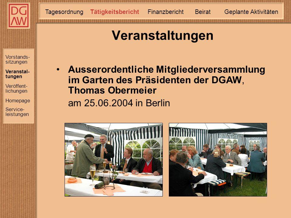 Frauen in der Abfallwirtschaft Vorbereitung des Zweiten Netzwerk-Treffens am 27.08.2004 in Düsseldorf Die DGAW in Brüssel Der Markt denkt nicht ökologisch vom 07.