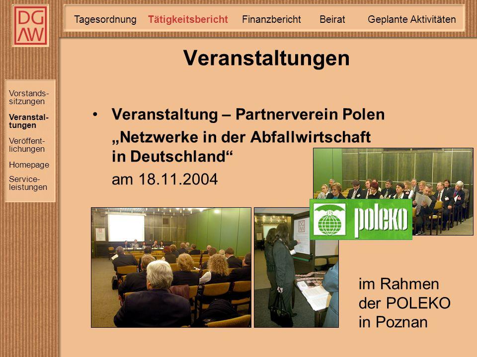 Aussenaktivitäten Vortrag von Herrn Obermeier auf der Internationalen Fachmesse ÖKOTECH Präsentation von deutscher Umwelttechnik für den ungarischen Markt 26.