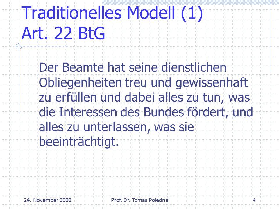 24.November 2000Prof. Dr. Tomas Poledna15 Sonderfall Streikrecht: Art.