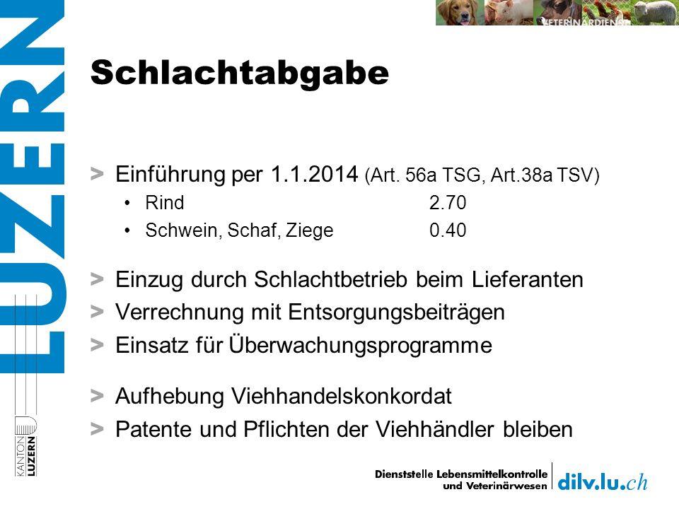 Schlachtabgabe > Einführung per 1.1.2014 (Art.