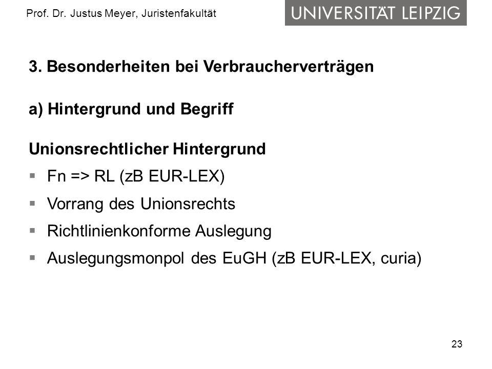 23 Prof.Dr. Justus Meyer, Juristenfakultät 3.