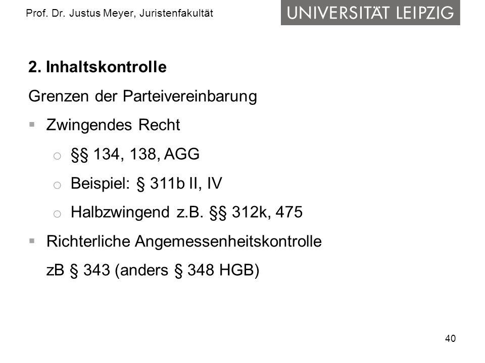 40 Prof.Dr. Justus Meyer, Juristenfakultät 2.