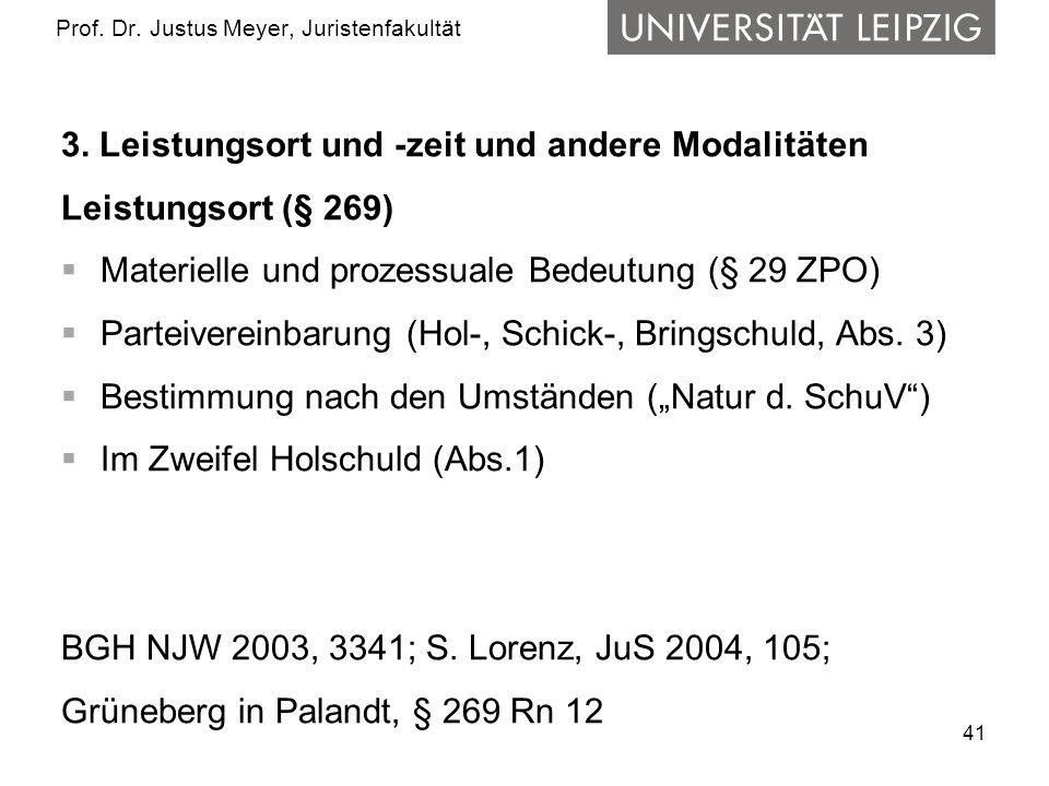 41 Prof.Dr. Justus Meyer, Juristenfakultät 3.