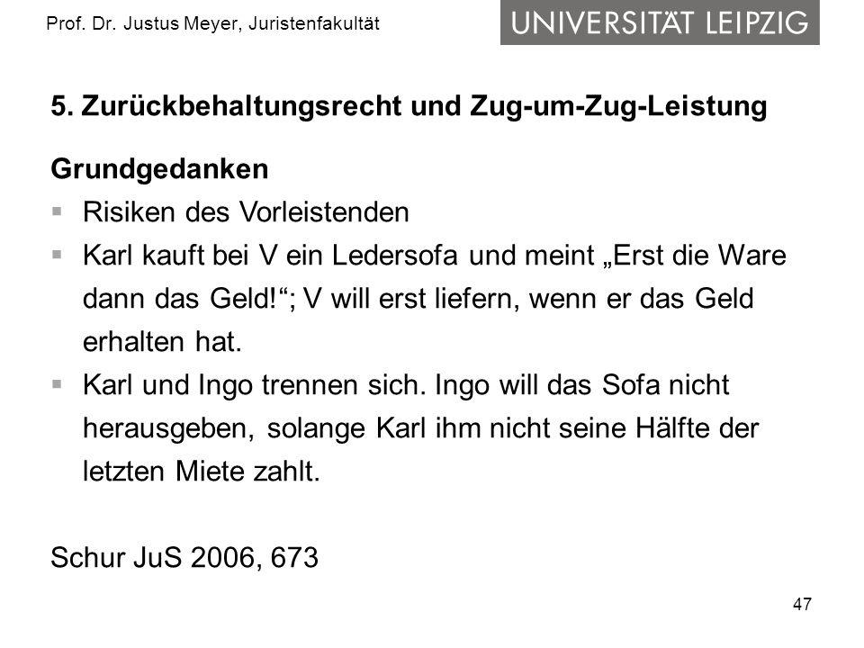 47 Prof.Dr. Justus Meyer, Juristenfakultät 5.