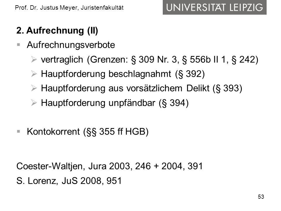 53 Prof.Dr. Justus Meyer, Juristenfakultät 2.