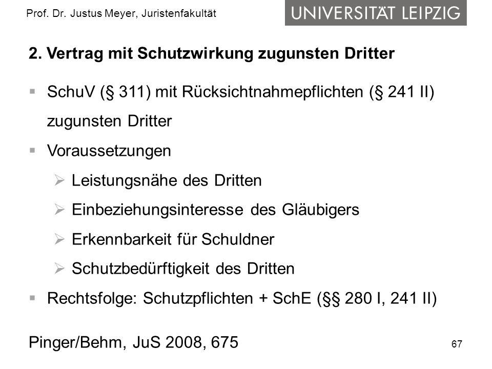 67 Prof.Dr. Justus Meyer, Juristenfakultät 2.
