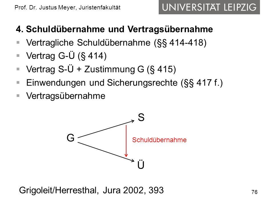 76 Prof.Dr. Justus Meyer, Juristenfakultät 4.