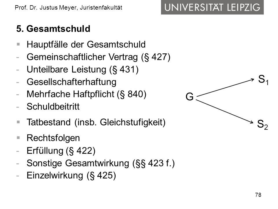 78 Prof.Dr. Justus Meyer, Juristenfakultät 5.