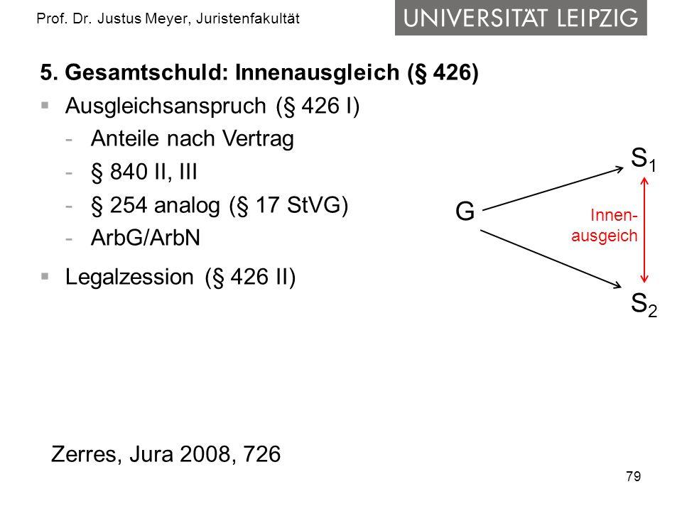 79 Prof.Dr. Justus Meyer, Juristenfakultät 5.