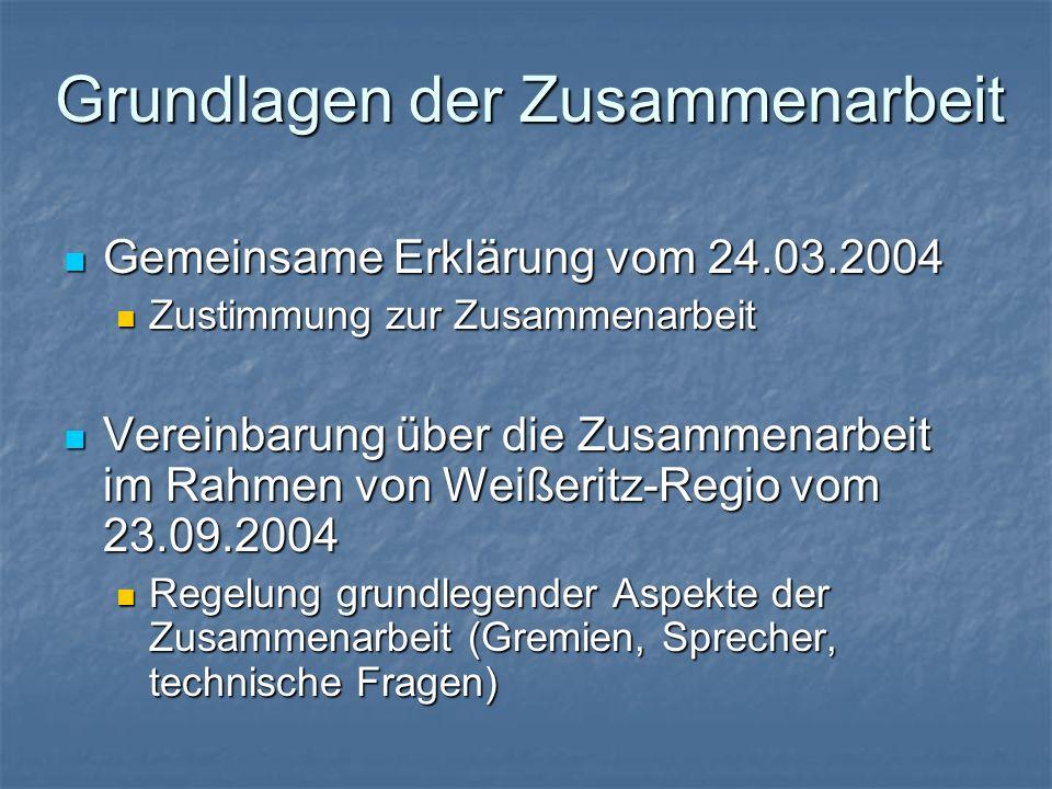 Grundlagen der Zusammenarbeit Gemeinsame Erklärung vom 24.03.2004 Gemeinsame Erklärung vom 24.03.2004 Zustimmung zur Zusammenarbeit Zustimmung zur Zus