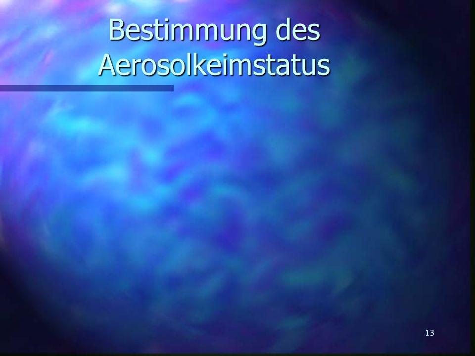 13 Bestimmung des Aerosolkeimstatus