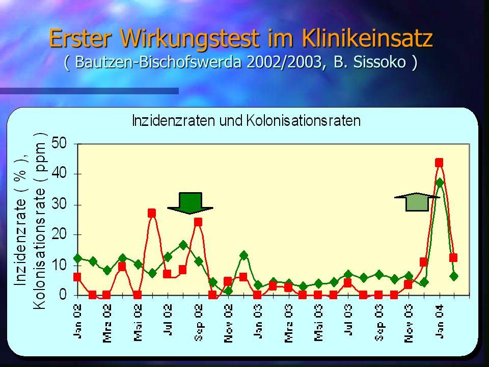 26 Erster Wirkungstest im Klinikeinsatz ( Bautzen-Bischofswerda 2002/2003, B. Sissoko )