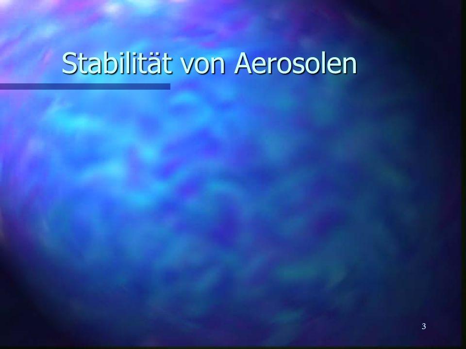 3 Stabilität von Aerosolen